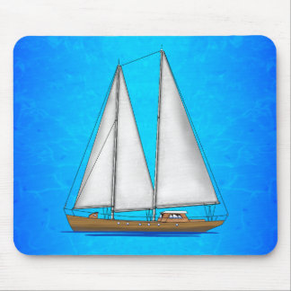 Sailboat Blue Waters Mouse Pad