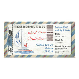 Sailboat Boarding Pass Card