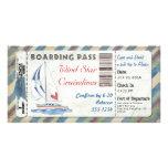 Sailboat Boarding Pass Photo Card Template