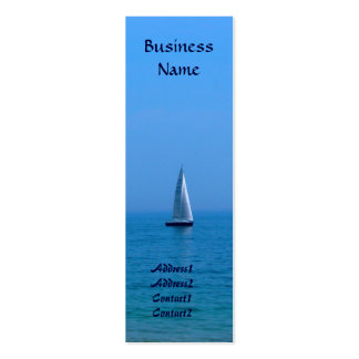 Sailboat Bookmark Business Cards
