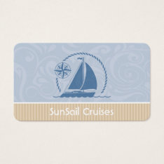 Sailboat Breeze Business Card at Zazzle