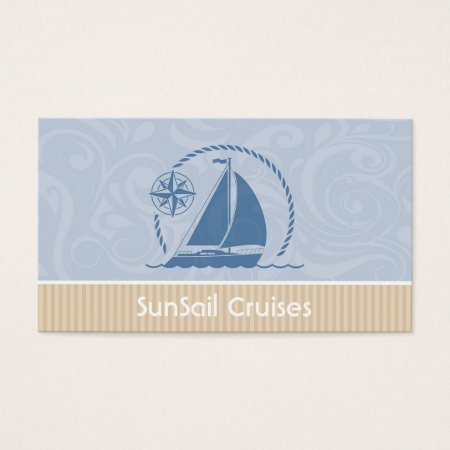 Sailboat Yacht Sailing in the Breeze Business Cards