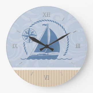Sailboat Breeze Large Clock