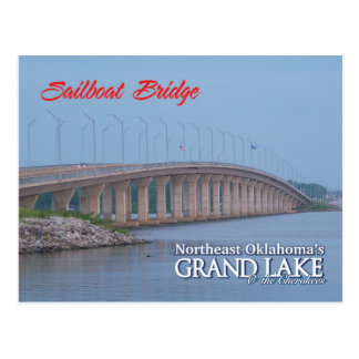 Sailboat Bridge Grove Oklahoma post card 1