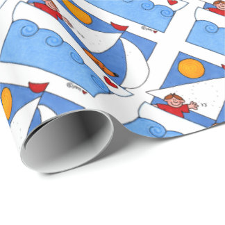 Sailboat Buddies Kid-Friendly Wrapping Paper