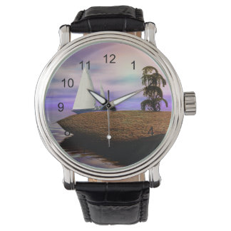 Sailboat by a Deserted Island Watches