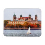Sailboat by Ellis Island Rectangle Magnets