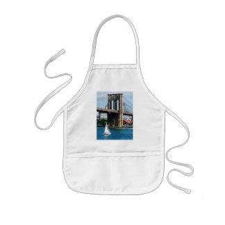 Sailboat by the Brooklyn Bridge Kids' Apron