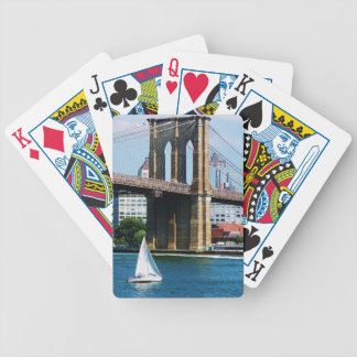 Sailboat by the Brooklyn Bridge Bicycle Playing Cards