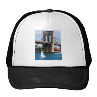 Sailboat by the Brooklyn Bridge Trucker Hat