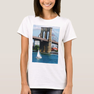 Sailboat by the Brooklyn Bridge T-Shirt