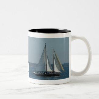 sailboat, Carey Designs Two-Tone Coffee Mug