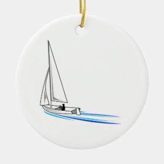 Sailboat Ceramic Ornament