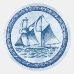 Sailboat Classic Round Sticker