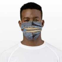 Sailboat cloth face mask