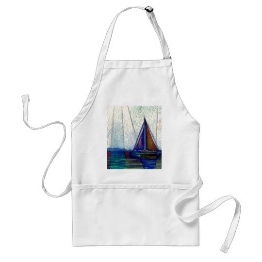 """Sailboat""  CricketDiane Ocean Art Adult Apron"