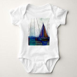 """Sailboat""  CricketDiane Ocean Art Baby Bodysuit"