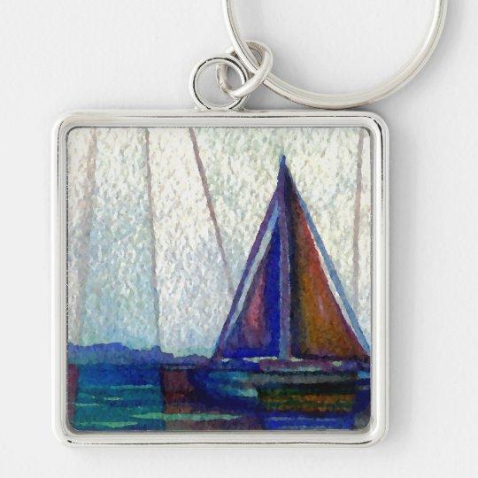 """Sailboat""  CricketDiane Ocean Art Keychain"
