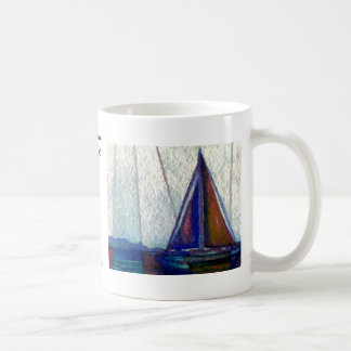 """Sailboat""  CricketDiane Ocean Art Classic White Coffee Mug"