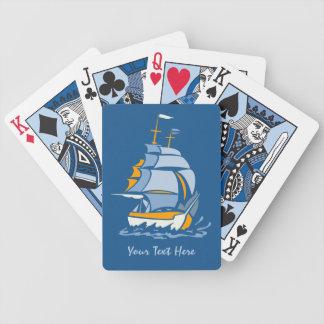 Sailboat custom playing cards