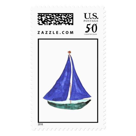 Sailboat Custom Postage
