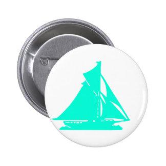 Sailboat Cyan lg-transp Vero Beach The MUSEUM Zazz 2 Inch Round Button