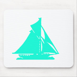 Sailboat Cyan lg-transp Vero Beach The MUSEUM Zazz Mouse Pad