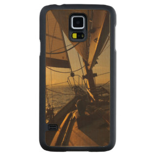 Sailboat Deck, Heading Into Setting Sun Carved® Maple Galaxy S5 Case