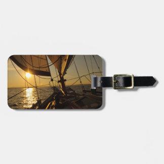 Sailboat Deck, Heading Into Setting Sun Bag Tags