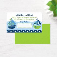 Sailboat Diaper Raffle Tickets at Zazzle