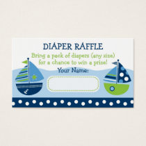 Sailboat Diaper Raffle Tickets