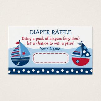 Sailboat Diaper Raffle Tickets
