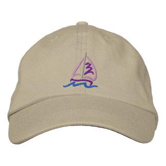 Sailboat Embroidered Baseball Hat