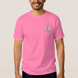 Sailboat Embroidered T-Shirt