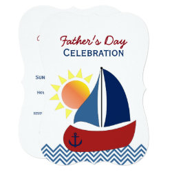 Sailboat Father's Day Celebration Invitation