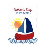 Sailboat Father's Day Celebration Invitation
