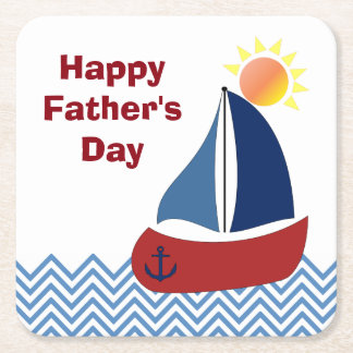 Sailboat Father's Day Paper Coasters