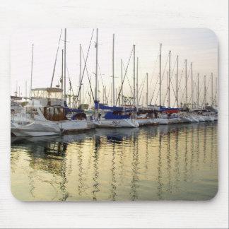 Sailboat & Golden Ocean Reflection Mouse Pad