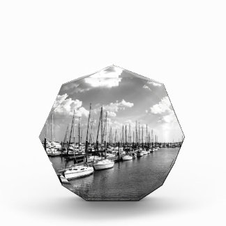 Sailboat Harbor in Black and White Award