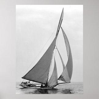 Sailboat Hawk 1891 Poster