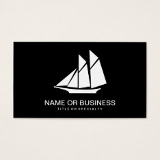 Sailboat Icon Business Card at Zazzle