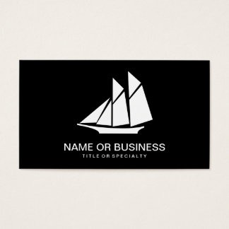 sailboat icon business card