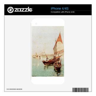 Sailboat In A Venetian Lagoon by Franz Richard iPhone 4 Skins