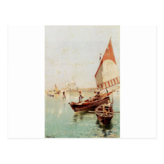 Sailboat In A Venetian Lagoon by Franz Richard Postcard