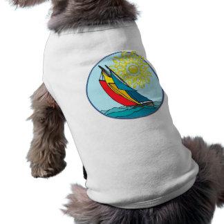 Sailboat in Crayon Colors Shirt