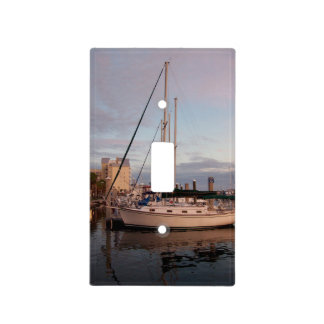 Sailboat in harbor by bbillips light switch cover