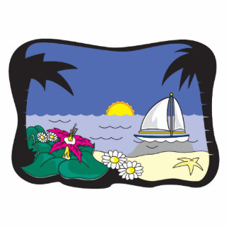 sailboat in paradise graphic acrylic cut out