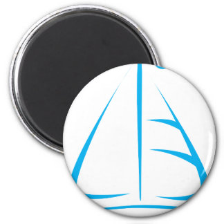 Sailboat in Swish Drawing Style Magnet