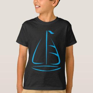 Sailboat in Swish Drawing Style T-Shirt