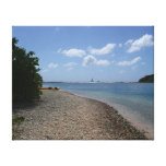 Sailboat in the Distance at St. Thomas Canvas Print
